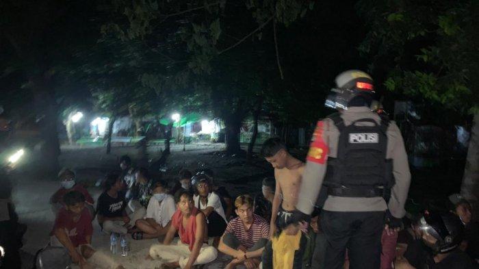 BALAP LIAR: Para pembalap liar tertangkap Tim UPRC Direktorat Samapta Polda NTB, dalam razia, Minggu (14/2/2021) dini hari.