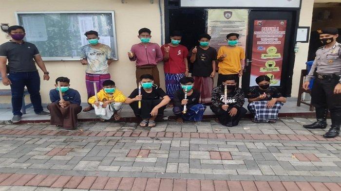 Perang Mercon setelah Salat Subuh, 11 Pemuda di Jalan Udayana Kota Mataram Diringkus Polisi