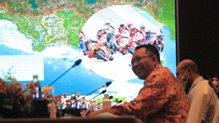 PARIWISATA: Gubernur Provinsi NTB Zulkieflimansyah memberikan pemaparan dalam pertemuan dengan Bappenas RI di Bali, Sabu (19/6/2021).(Dok. Diskominfotik NTB)