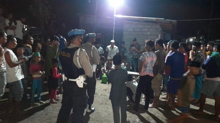 Menjelang Idul Fitri, Tim Kelelawar Polres Lombok Barat Bubarkan Lomba Gangsing