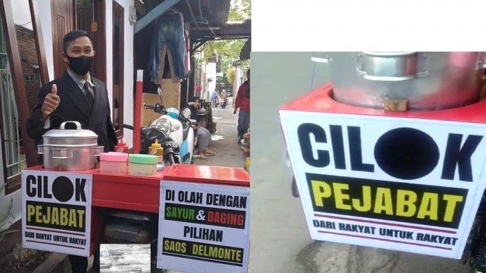 VIRAL Pedagang Cilok Pakai Jas ala Pejabat di Mataram, Cara Bertahan dari Pandemi dan PPKM Darurat