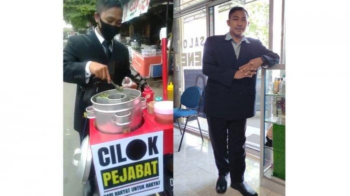 VIRAL Pedagang Cilok Pejabat di Mataram Pakai Jas, Sempat Ditertawakan hingga Kini Tuai Keuntungan