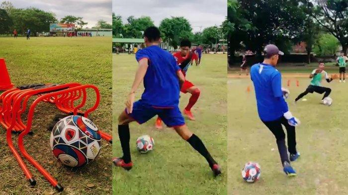 PEMUSATAN LATIHAN: Suasana pusat latihan Lombok FC di Maskas Batalyon Infantri 742/SWY, kompleks TNI AD, di Gebang, Kota Mataram, Kamis (7/10/2021).