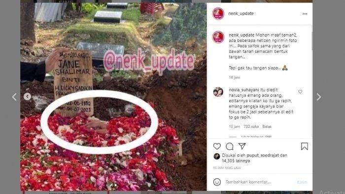 Heboh Penampakan Tangan di Makam Jane Shalimar, Sahabat Ungkap Fakta Akui Ada Kesalahan Edit