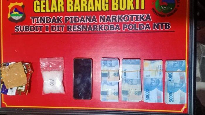 Polda NTB Ringkus Pemuda Ampenan Bawa 100,56 Gram Sabu dan Uang Rp 40 Juta