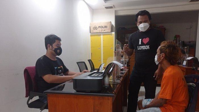 Penjual Kopi di Terminal Mandalika Mataram Nyambi Jual Sabu pada Para Sopir