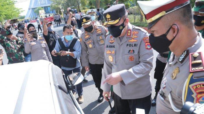Penyekatan PPKM Darurat di Mataram, Beberapa Kendaraan Diminta Putar Balik