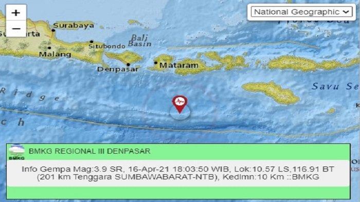 BMKG: Waspadai Rentetan Gempa Zona Megathrust di Selatan Lombok-Sumbawa