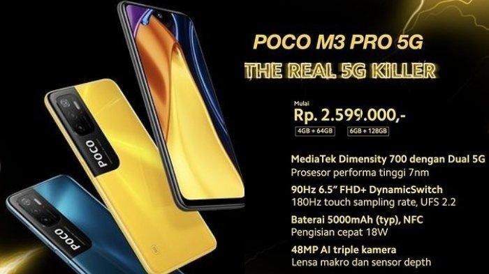 Harga dan Spesifikasi Poco M3 Pro 5G, Flagship Killer dari Xiaomi, Resmi Dirilis di Indonesia