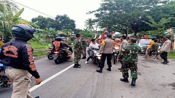Polisi dan TNI Cegat Konvoi Pendukung Paslon JODA di Lombok Utara