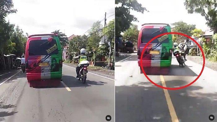 VIDEO Angkutan Umum Sengaja Serempet Polisi Lalu Ditinggal Kabur, Begini Nasib si Sopir Sekarang