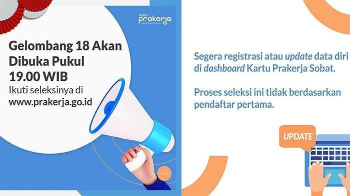 Daftar Kartu Prakerja Gelombang 18 di prakerja.go.id, Klik Gabung Sekarang!