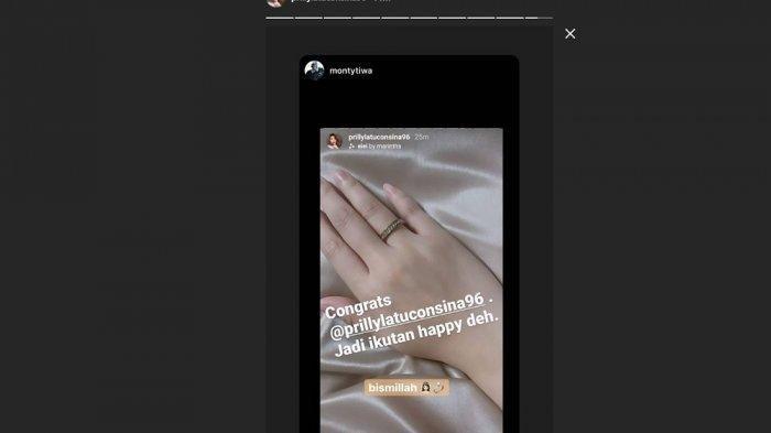 Prilly Latuconsina Unggah Foto Gunakan Cincin di Jari Manis, Kalimat Singkatnya Jadi Sorotan