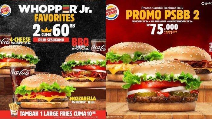 Promo Burger King Bulan Juli 2020, Beli 2 Whopper Cuma Bayar Rp 60 Ribu, Cek Pilihan Menunya