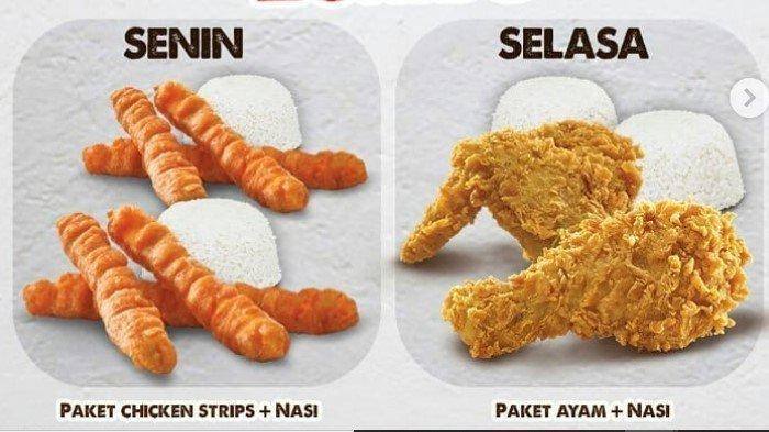 Promo CFC Paket Chicken Strip dan Paket Ayam Beli 1 Gratis 1 seharga Rp 28.000 via Gofood & Grabfood