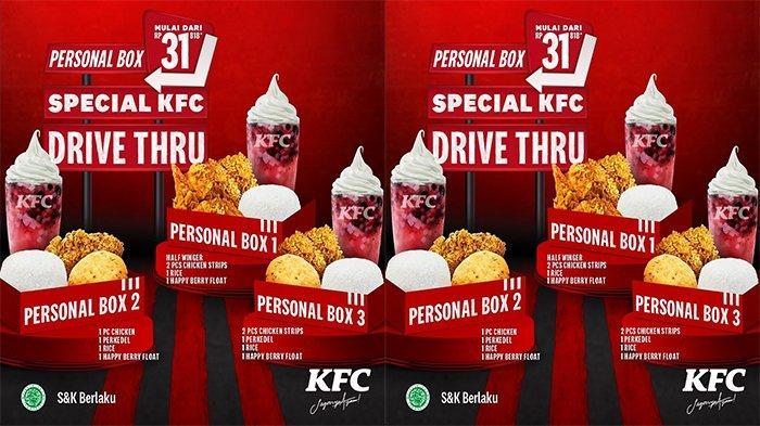PROMO KFC Selama Maret 2021: Personal Box Mulai Rp 31.818 hingga Paket Hoki Rp 36.364