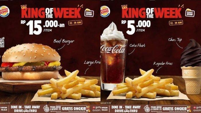 Promo Burger King Periode 22-28 Juni 2020, Beef Burger Hanya Rp 15.000