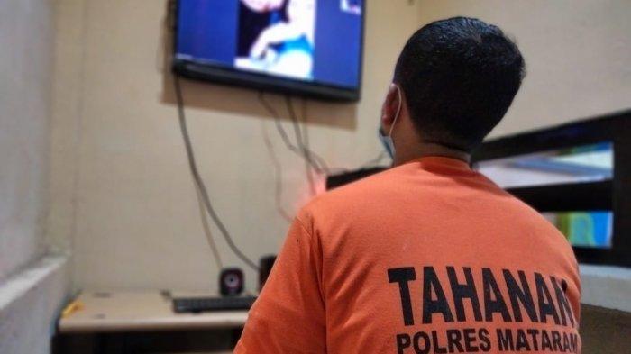 Besuk Tahanan di Polresta Mataram Bisa Lewat Aplikasi Zoom Meeting