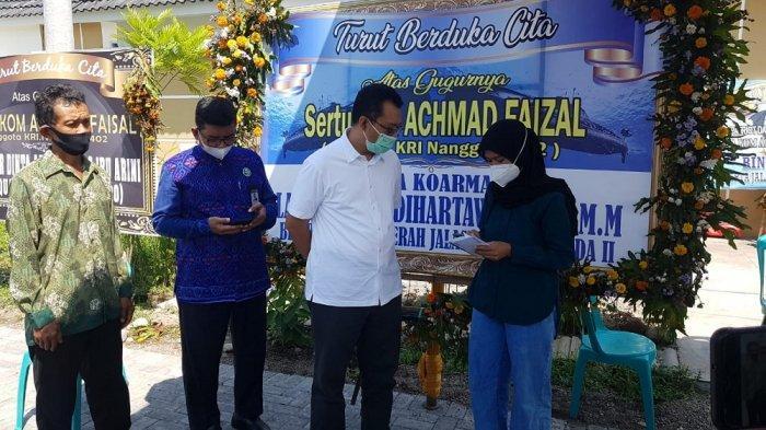Gubernur NTB Berikan Santunan kepada Istri Awak KRI Nanggala-402 Asal Bima