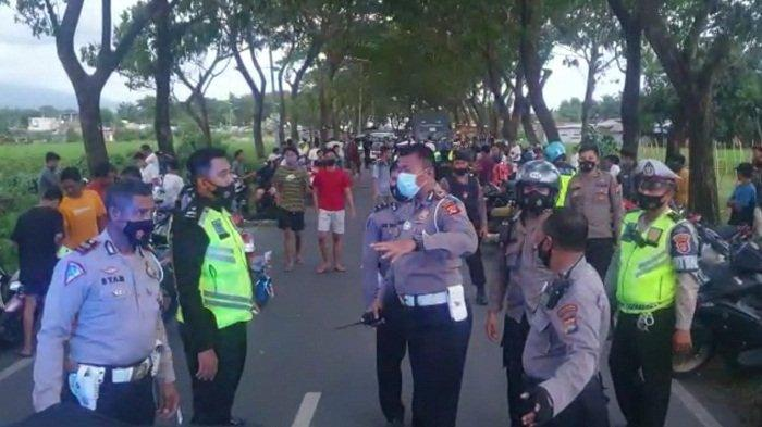 Bubarkan Balap Liar di Jalan Tohpati, Polresta Mataram Angkut 90 Unit Motor