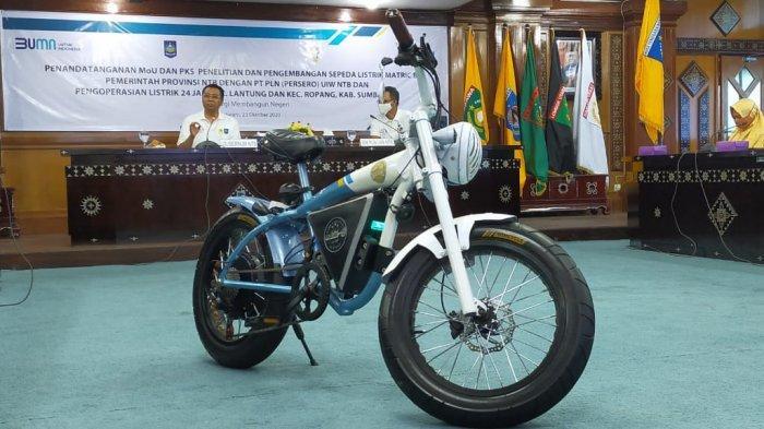 Sepeda Listrik Buatan Anak NTB Siap Mejeng di Arena MotoGP Mandalika