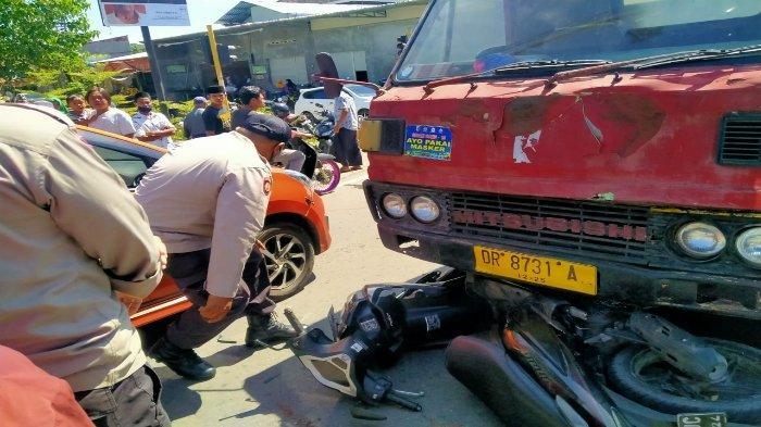 Pemotor Anak di Lombok Tengah Tertabrak Dump Truck, 1 Anak Tewas 2 Luka-luka