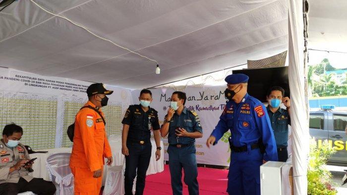 SIAGA: Personel Basarnas Mataram siaga di sejumlah posko mudik Lebaran 2021, Kamis (6/5/2021).