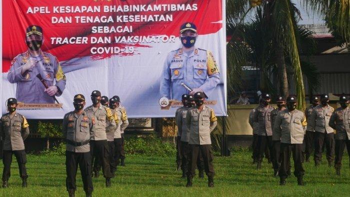 Kapolres Lombok Barat Ingatkan Anggotanya Selalu Sigap Bantu Proses Vaksinasi Covid-19