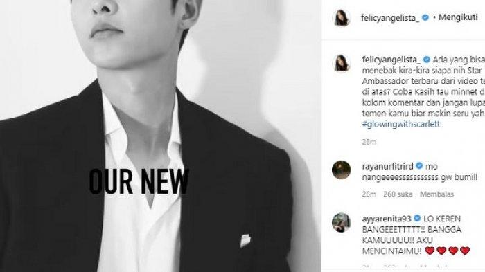Feli pamer Song Joong Ki jadi star ambassador Scarlett
