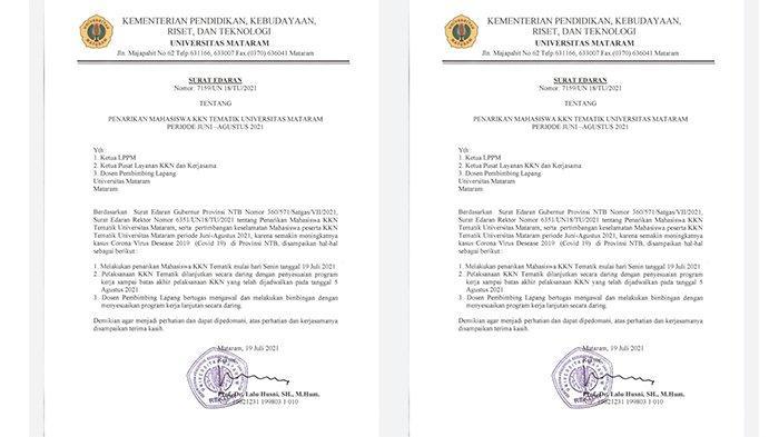 Rektor Universitas Mataram Tarik Seluruh Mahasiswa KKN Mulai Hari Ini