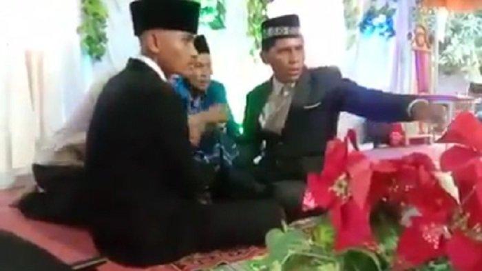 VIRAL Calon Mertua Tendang Wajah Pengantin Pria saat Akad Nikah di Kota Bima