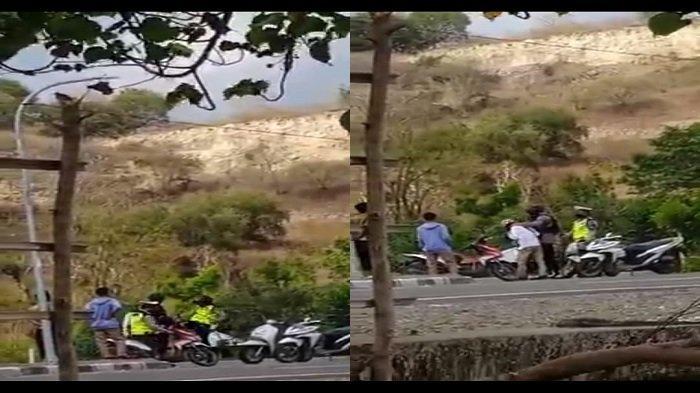 VIRAL Video Oknum Polisi Tendang Pengendara Motor, Kapolres Bima Turun Minta Maaf ke Warga