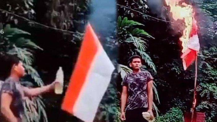 HEBOH Pria Bakar Bendera Merah Putih Ternyata Pelaku Berada di Malaysia, Ini Tindakan Polri