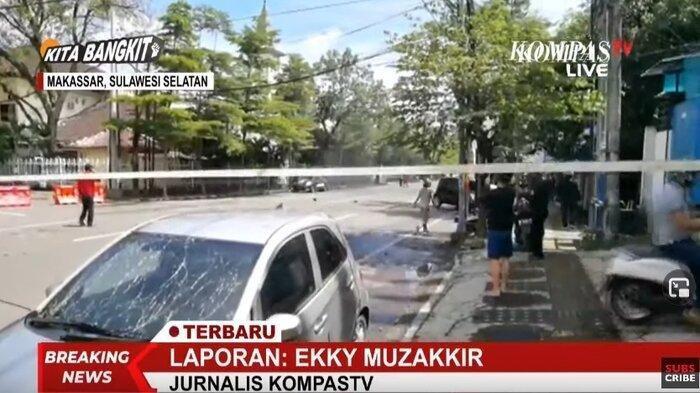 BREAKING NEWS Ledakan di Depan Gereja Makassar Diduga Bom Bunuh Diri: Motor Hangus dan Ada Jenazah