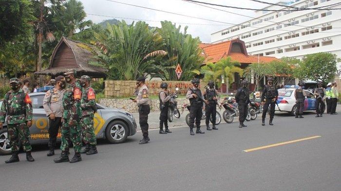 Rumah WNA & Kawasan Wisata Senggigi Dijaga Petugas Patroli, Buntut Bom Bunuh Diri Katedral Makassar