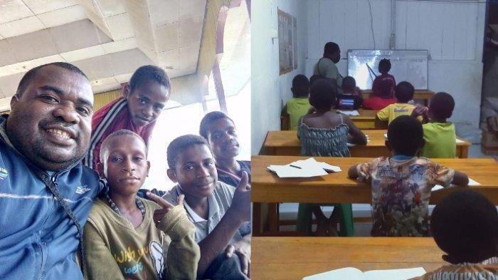 Sosok Amos, Tinggalkan Mimpi Jadi Bupati Pilih Layani Anak Pecandu Lem dan Narkoba di Papua