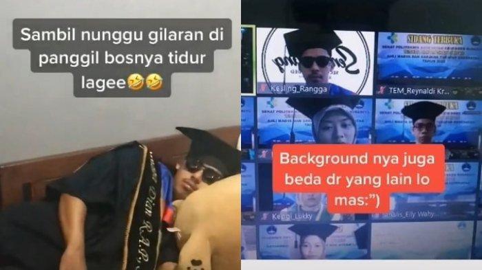 Viral Mahasiswa Ikut Wisuda Online dengan Santai, Tak Mandi Bahkan Lupa Pakai Celana Panjang