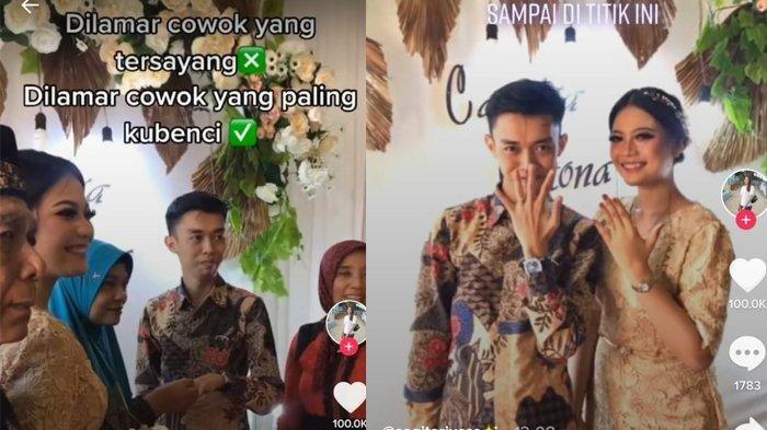 Viral Video TikTok Cewek Dilamar Cowok yang Paling Dibenci, Begini Kisah Lengkapnya