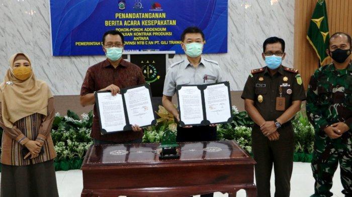 Pemprov NTB dan PT GTI Sepakat Perbarui Kontrak Pengelolaan Aset Gili Trawangan