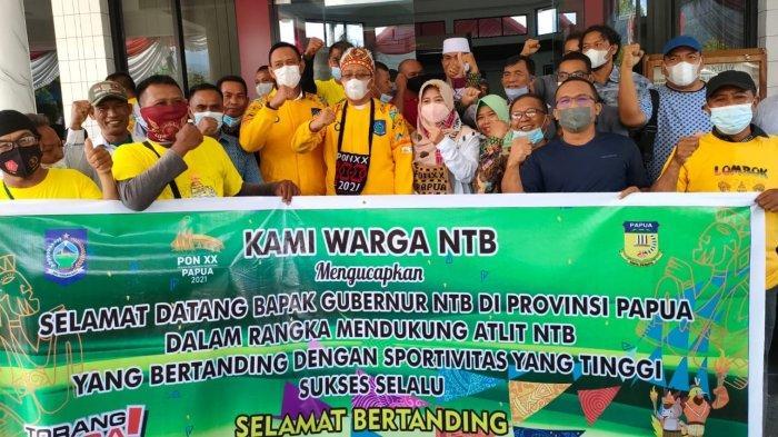 Gubernur NTB Datang ke Papua Lihat Para Atlet Bertanding, Disambut Warga