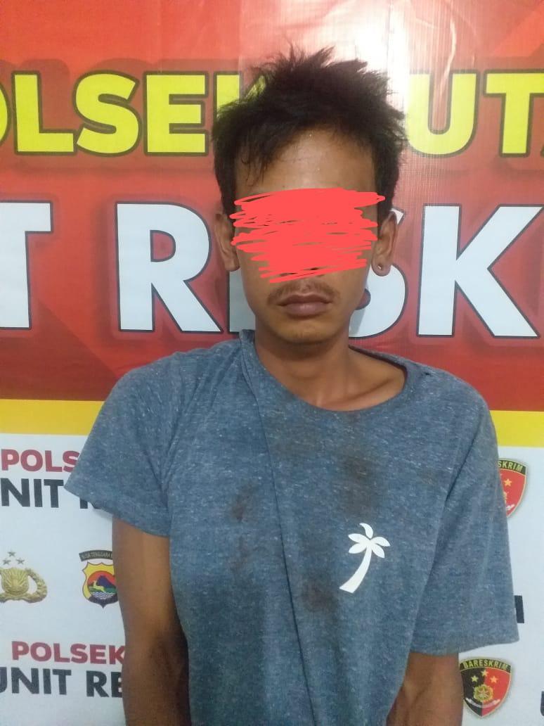 PELAKU: KU (25) pemuda Lombok Tengah yang menebas tangan majikan karena kesal sering dikata-katai bos bulenya.