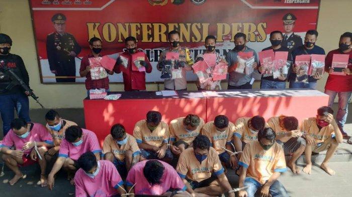 Polres Tuban Tangkap 15 Pengedar Sabu & Obat Terlarang, Pelaku Kirim Melalui Jasa Pengiriman Barang