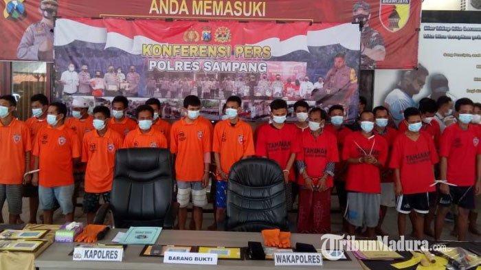 Operasi Pekat Semeru 2021 Polres Sampang Madura Ungkap 28 Kasus hingga Amankan 33 Tersangka