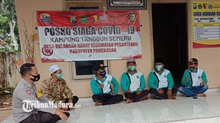 Bhabinkamtibmas Desa Bulangan Barat Pamekasan Pantau PPKM Mikro, Cegah Penularan Covid-19