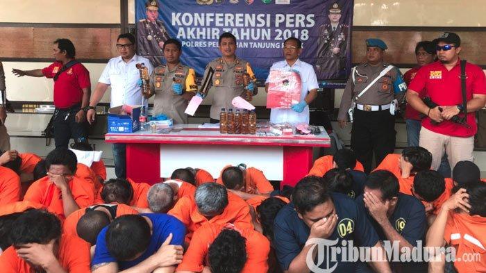 Tahun 2018,Polres Pelabuhan Tanjung Perak Tangani221 Kasus Narkoba,Bekuk 38 Pelaku Perempuan