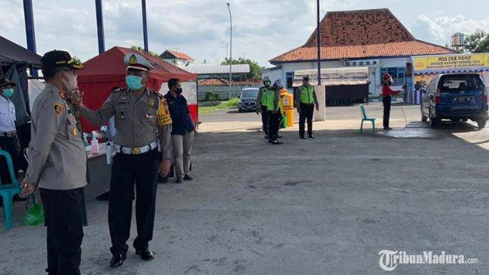 Kapolres Pamekasan Cek Posko Pemantauan Covid-19 di Terminal Barang,Pastikan Tak Ada Warga Mudik