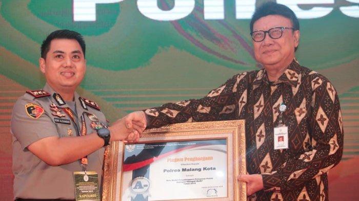 Polres Malang Kota Raih Penghargaan Pelayanan Publik dariKemenpan-RB, Dapat Predikat A