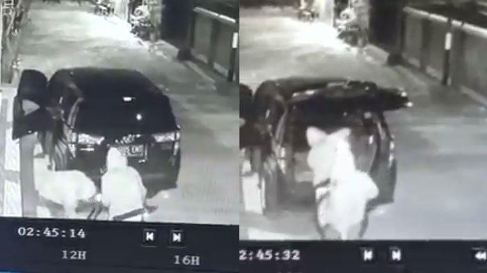 Maling Pakai Mobil MPV Kedapatan Bawa Kabur Sepeda Angin di Rumah Warga Tuban, Aksinya Terekam CCTV