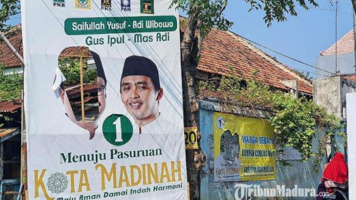 Baliho Kampanye Gus Ipul-Mas Adi Dirusak, Ketua Parpol Koalisi: Ada yang Buat Kerusuhan di Pasuruan