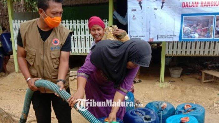 Dana Bantuan Droping Air Dari Pemprov Jatim Belum Cair, BPBD Sampang Andalkan Pihak Ketiga
